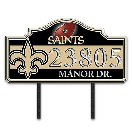 New Orleans Saints Personalized Outdoor Address Sign