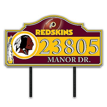 Washington Redskins Personalized Outdoor Address Sign