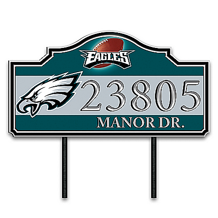 Philadelphia Eagles Personalized Outdoor Address Sign