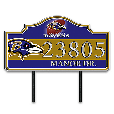 Baltimore Ravens Personalized Outdoor Address Sign