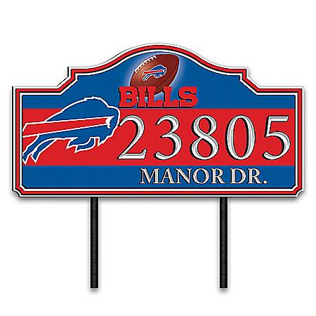 Buffalo Bills Personalized Outdoor Address Sign