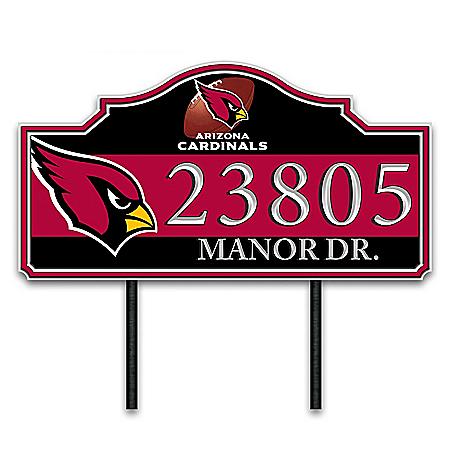 Arizona Cardinals Personalized Outdoor Address Sign