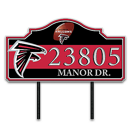 Atlanta Falcons Personalized Outdoor Address Sign