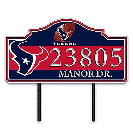 Houston Texans Personalized Outdoor Address Sign