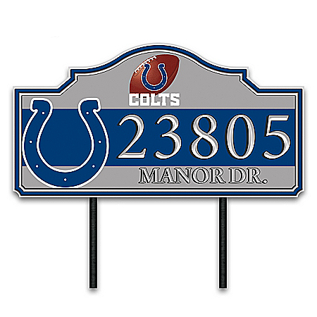 Indianapolis Colts Personalized Outdoor Address Sign