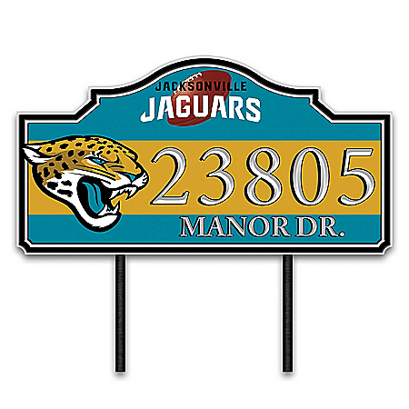 Jacksonville Jaguars Personalized Outdoor Address Sign