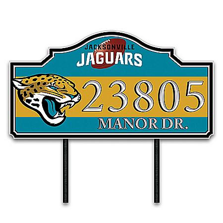 Jacksonville Jaguars Personalized Outdoor Address Sign