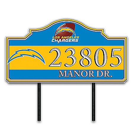 Los Angeles Chargers Personalized Outdoor Address Sign