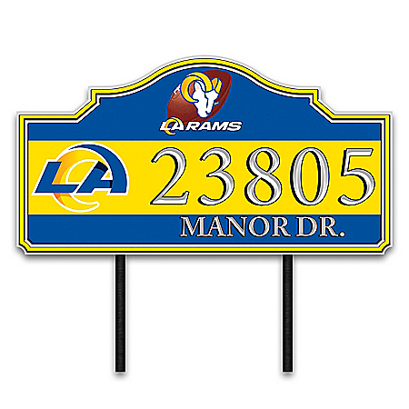 Los Angeles Rams Personalized Outdoor Address Sign