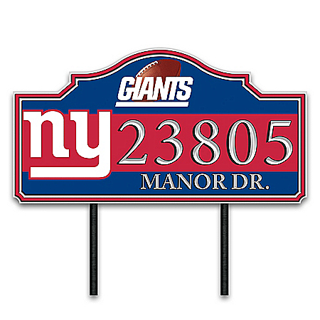 New York Giants Personalized Outdoor Address Sign