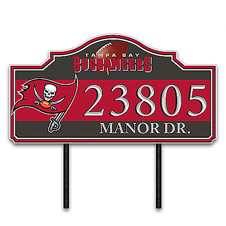 Tampa Bay Buccaneers Personalized Outdoor Address Sign
