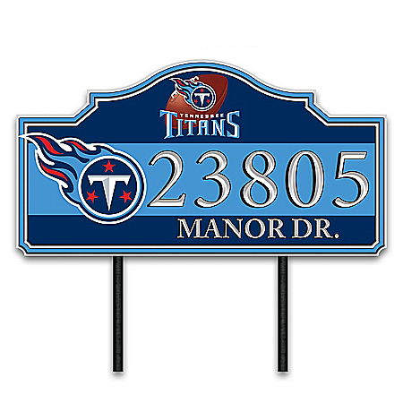 Tennessee Titans Personalized Outdoor Address Sign