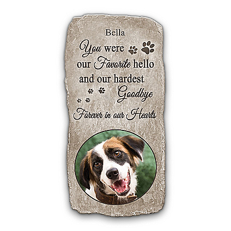 Pet Memorial Plaque Personalized With Pet's Photo And Name