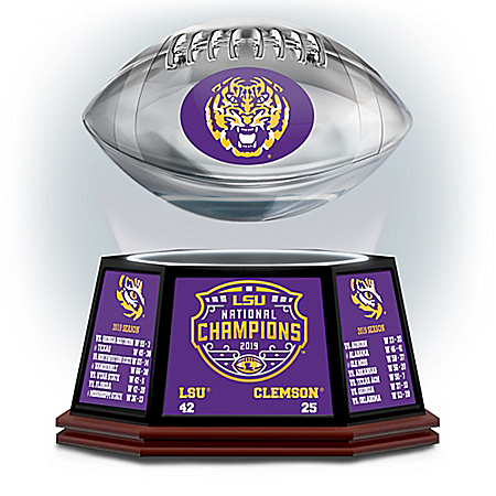 LSU 2019 Football National Champions Levitating Football