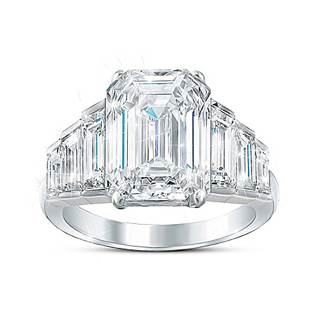 Royal Love Story Ring With 9 Carats Of Simulated Diamonds