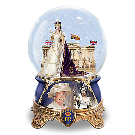 Queen Elizabeth II Coronation Musical Glitter Globe
