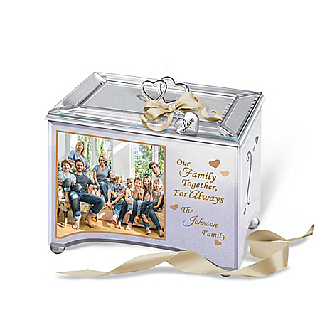 Personalized Family Music Box With Family Photo And Name