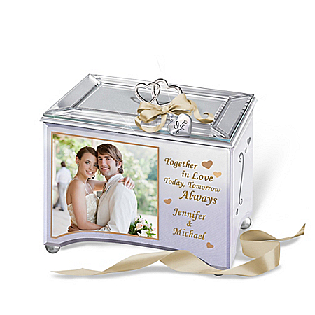 Personalized Romantic Music Box With Your Photo And 2 Names