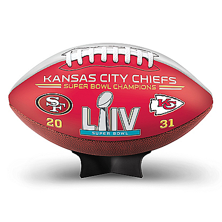 Kansas City Chiefs Super Bowl LIV Champions NFL Commemorative Football