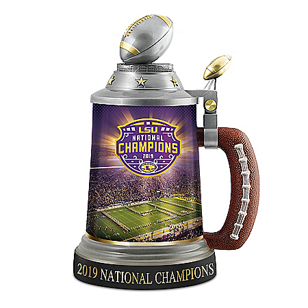 LSU Tigers 2019 Football National Championship Porcelain Stein