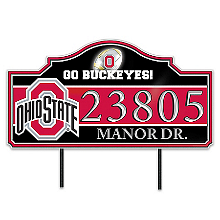 The Ohio State University Buckeyes Personalized Outdoor Address Sign