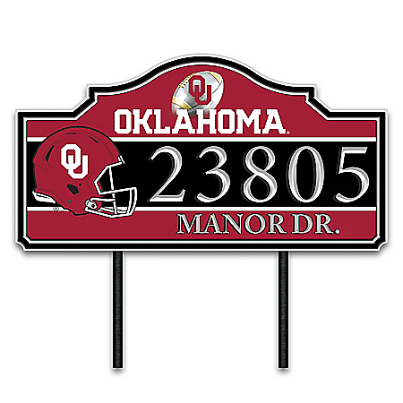 The University Of Oklahoma Outdoor Address Sign