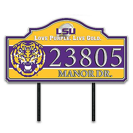 The Louisiana State University Outdoor Address Sign