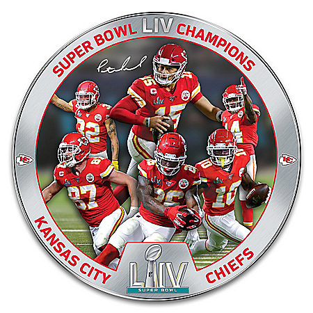 Kansas City Chiefs Super Bowl LIV Commemorative Plate
