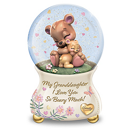 I Love You Beary Much Personalized Glitter Globe – Personalized Jewelry