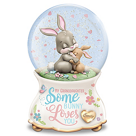 Somebunny Loves You Personalized Glitter Globe – Personalized Jewelry