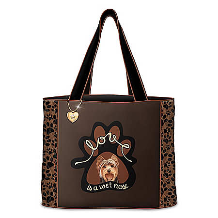 Love Is A Wet Nose Quilted Tote Bag: Choose Your Breed