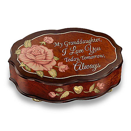 Swiss-Inspired Wood-look Music Box For Granddaughter