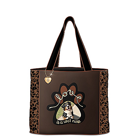 Love Is A Wet Nose Tote Personalized With Your Dog's Photo