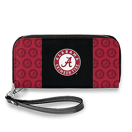 Alabama Crimson Tide Women's Faux Leather Clutch Wallet