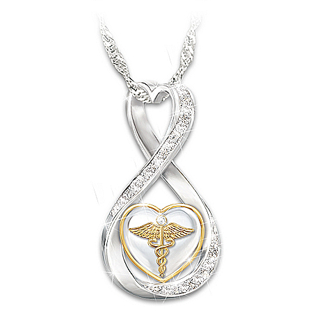 Work Of Heart Swarovski Crystal Healthcare Necklace