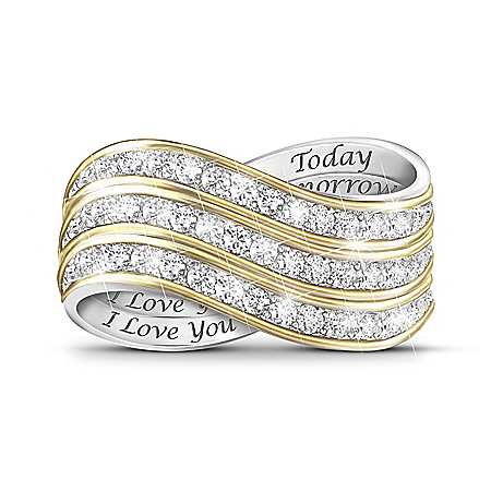 Forever Love Set Of 3 Stackable Diamond Rings