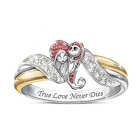 The Nightmare Before Christmas Diamonesk Embrace Ring