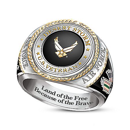 Air Force Veteran 30th Anniversary Desert Storm Men's Ring