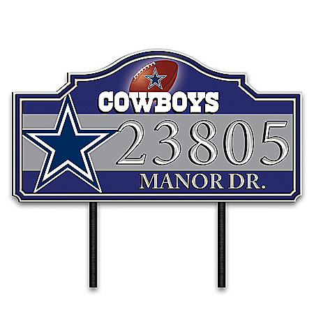 NFL Personalized Outdoor Address Sign Featuring Team Logo & Colors