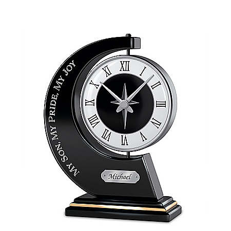My Son, My Pride, My Joy Personalized Rotating Clock