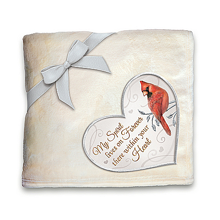 Remembrance Plush Throw Blanket With Cardinal Artwork