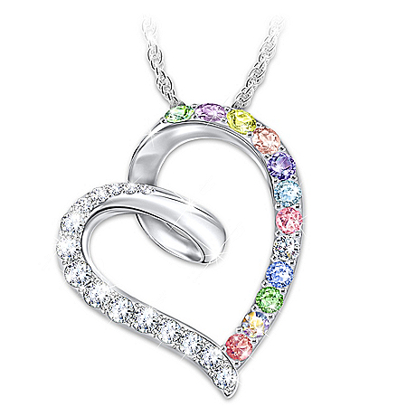 Daughter, Wishes From My Heart Swarovski Crystal Necklace