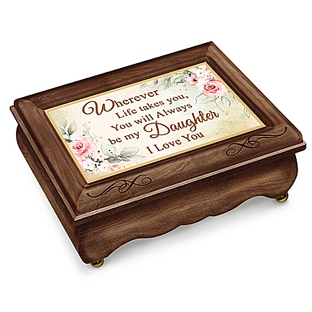 Wooden Music Box For Daughter Plays You Are So Beautiful