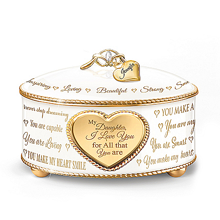 My Daughter, For All That You Are Personalized Music Box – Personalized Jewelry