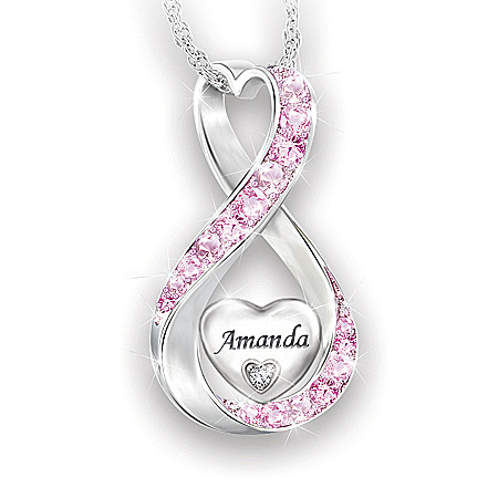 Always Loved Granddaughter Personalized Diamond Pendant Necklace – Personalized Jewelry