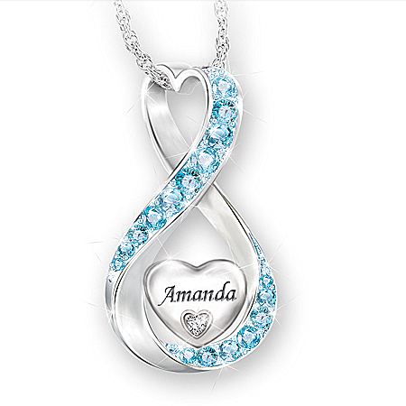 Daughter Always Loved Personalized Diamond Pendant Necklace – Personalized Jewelry