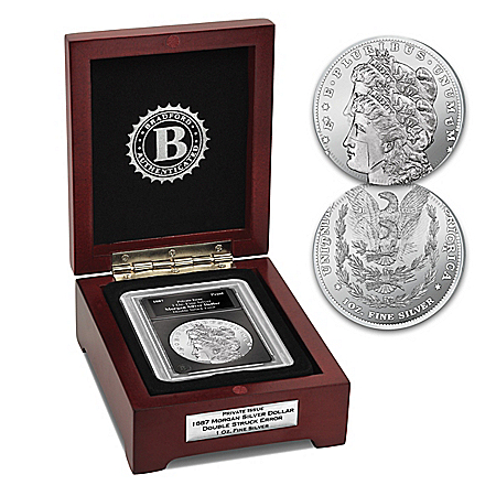 1887 Double Struck Error Morgan Tribute Coin And Display Box