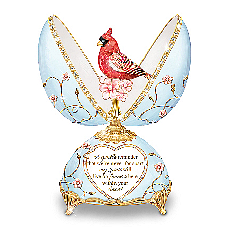 Heavenly Messenger Peter Carl Faberge-Style Musical Egg