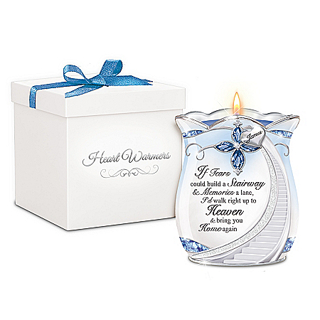Loving Memories Personalized Remembrance Candleholder