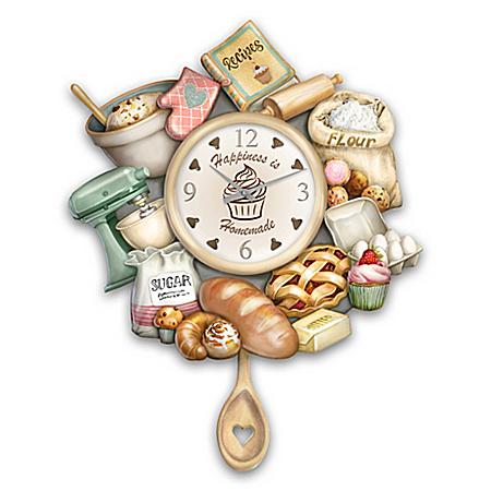 Homemade Happiness Wall Clock Celebrates The Joy Of Baking